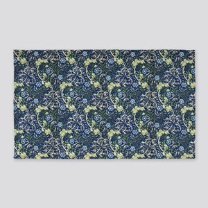 Morris Blue Daises with Returns 3'x5' Area Rug