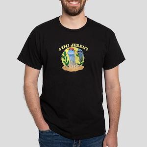 You Jelly Mustache Jellyfish Dark T-Shirt