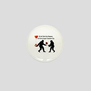Bigfoot Remembers Valentines Day Mini Button