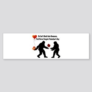 Bigfoot Remembers Valentines Day Sticker (Bumper)