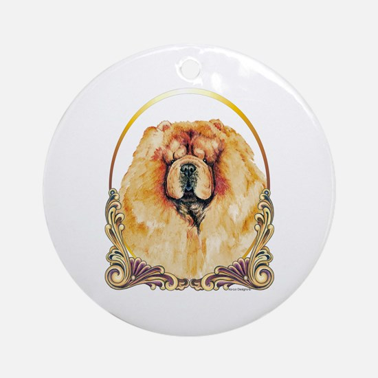 Chow Chow Holiday/Christmas Ornament (Round)