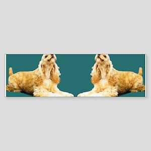 Twin Cockers Bumper Sticker