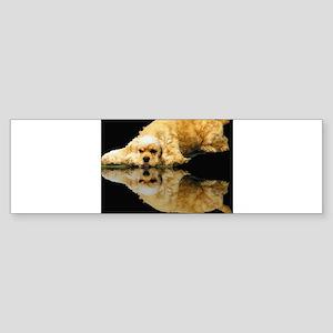 Cocker Reflection Bumper Sticker