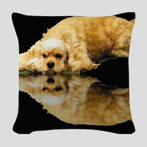 Cocker Reflection Woven Throw Pillow