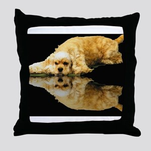 Cocker Reflection Throw Pillow