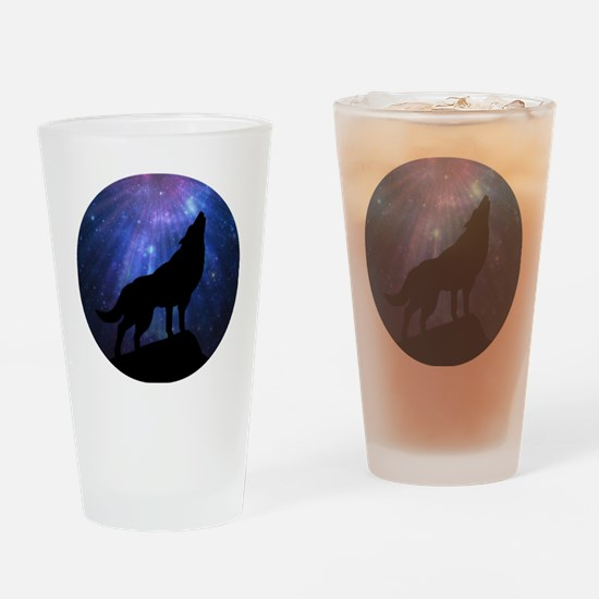 Celestial Wolf Round Drinking Glass