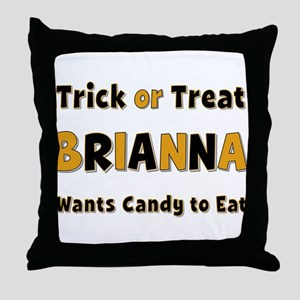 Brianna Trick or Treat Throw Pillow