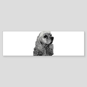 Sketched Cocker Head Bumper Sticker