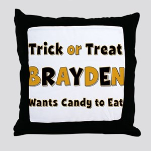 Brayden Trick or Treat Throw Pillow