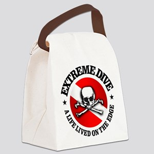 Extreme Dive (Skull) Canvas Lunch Bag