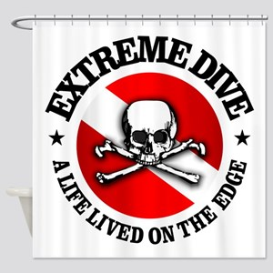 Extreme Dive (Skull) Shower Curtain