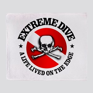 Extreme Dive (Skull) Throw Blanket