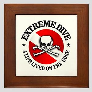 Extreme Dive (Skull) Framed Tile