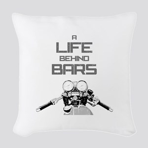A Life Behind Bars Woven Throw Pillow