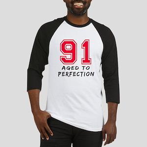 91 Year birthday designs Baseball Jersey