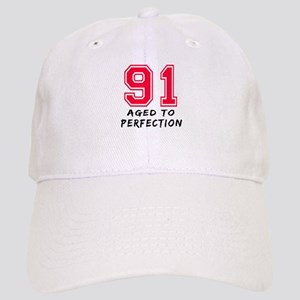 91 Year birthday designs Cap