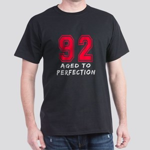 92 Year birthday designs Dark T-Shirt
