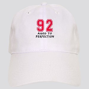 92 Year birthday designs Cap