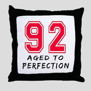 92 Year birthday designs Throw Pillow