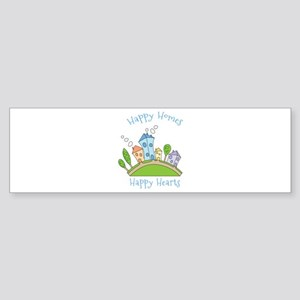 Happy Homes Happy Hearts Bumper Sticker