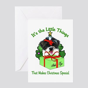 Shih Tzu Christmas Greeting Card