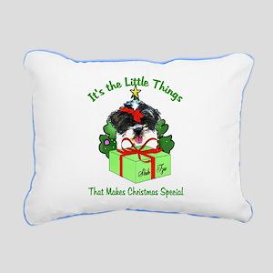 Shih Tzu Christmas Rectangular Canvas Pillow