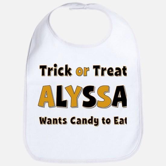 Alyssa Trick or Treat Bib