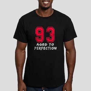 93 Year birthday designs Men's Fitted T-Shirt (dar
