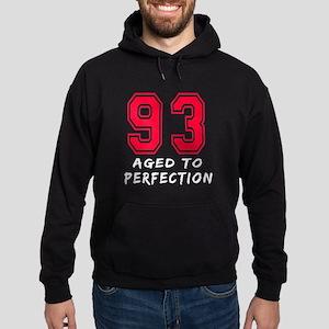 93 Year birthday designs Hoodie (dark)