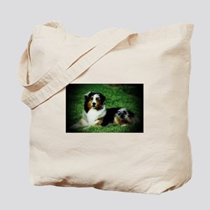 Aussie Laying Tote Bag