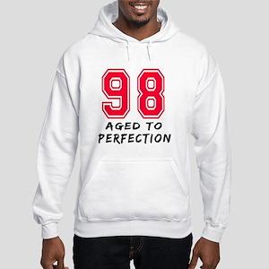 98 Year birthday designs Hooded Sweatshirt