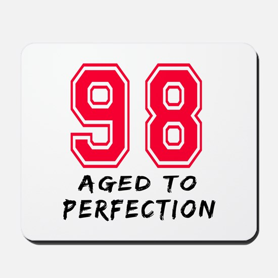98 Year birthday designs Mousepad