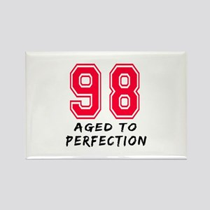 98 Year birthday designs Rectangle Magnet
