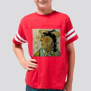 picasso clock Youth Football Shirt