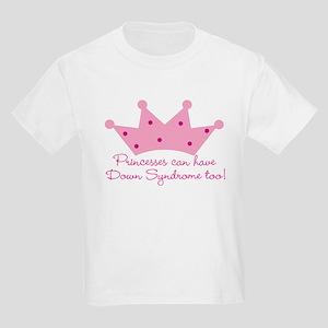 Down Syndrome Princess Kids T-Shirt