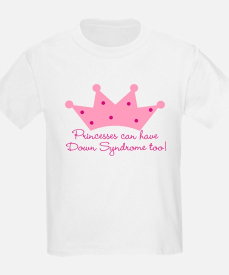 Down Syndrome Princess Kids T-Shirt
