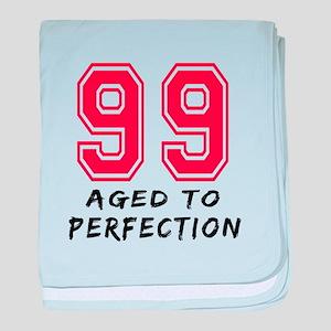 99 Year birthday designs baby blanket