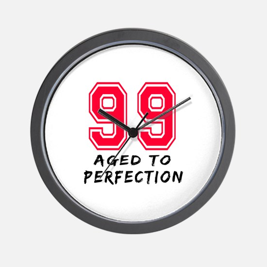 99 Year birthday designs Wall Clock
