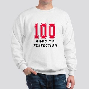 100 Year birthday designs Sweatshirt
