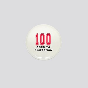 100 Year birthday designs Mini Button