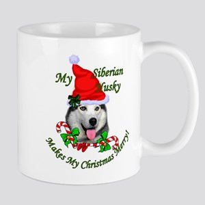 Siberian Husky Christmas 11 oz Ceramic Mug