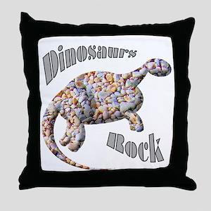 Dinosaurs Rock! Throw Pillow