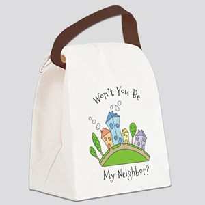 Wont You Be My Neighbor? Canvas Lunch Bag