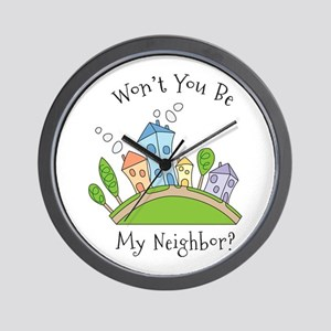 Wont You Be My Neighbor? Wall Clock