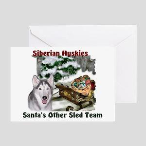 Siberian Husky Christmas Greeting Card