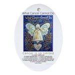 Blue & Gold Cancer Angel Ornament (Oval)
