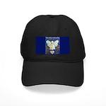 Blue & Gold Cancer Angel Black Cap