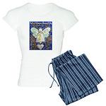 Blue & Gold Cancer Angel Women's Light Pajamas