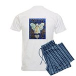 Blue & Gold Cancer Angel Men's Light Pajamas