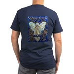 Blue & Gold Cancer Ang Men's Fitted T-Shirt (dark)